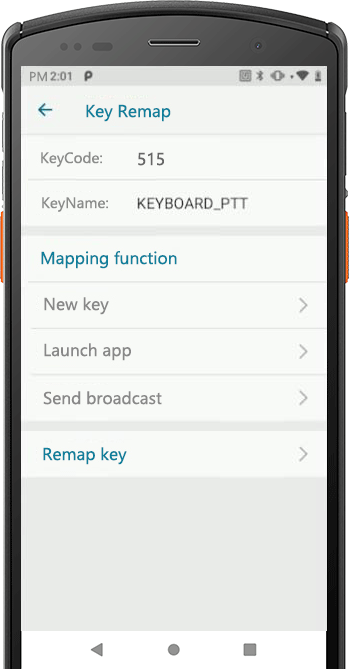 Key mapping function